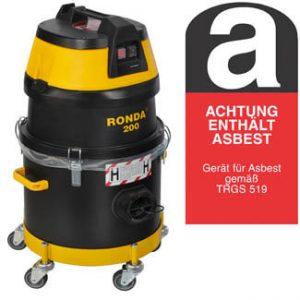 Ronda Asbestsauger 200H-A für Gefahrenstoffe