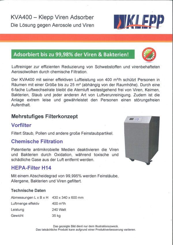 Virenfilter KVA 400 Klepp